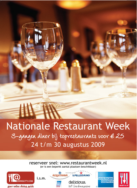 Cooling.nl sponsort Restaurant Week
